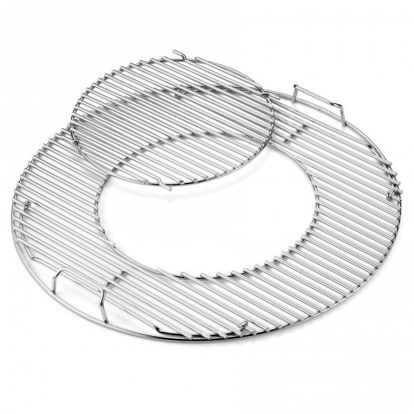Grillrost-Einsatz Gourmet BBQ System - edelstahl, für Holzkohlegrills mit 57 cm