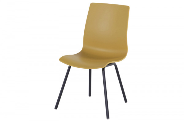 Sophie Rondo Wave Dining Chair - Curry Yellow